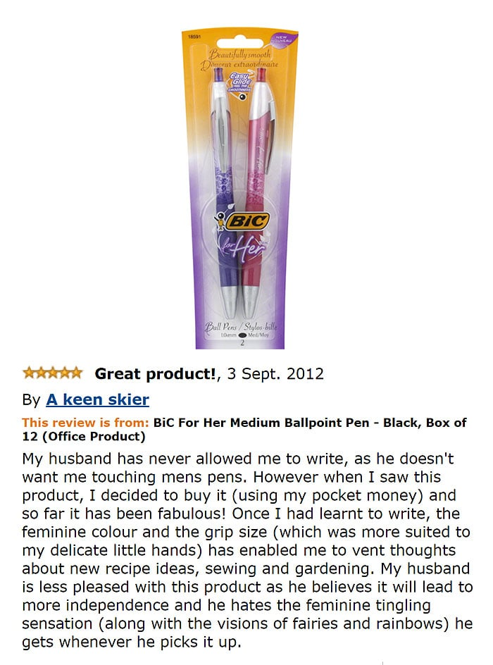 Funny reviews on Amazon