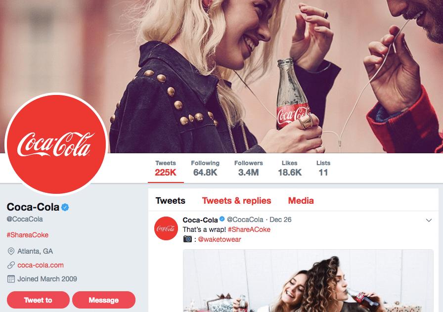 Coca-Cola on Twitter