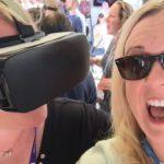 Tamara experiencing VR at SXSW
