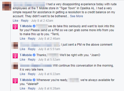 T-Mobile engaging customers