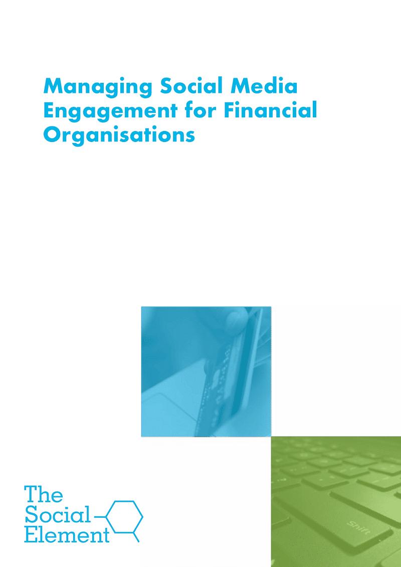 Managing social media engagements for financial organisations