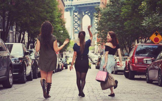 women friends shopping bag